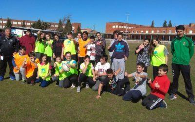 Clase de Educación Física con el León Rugby Club