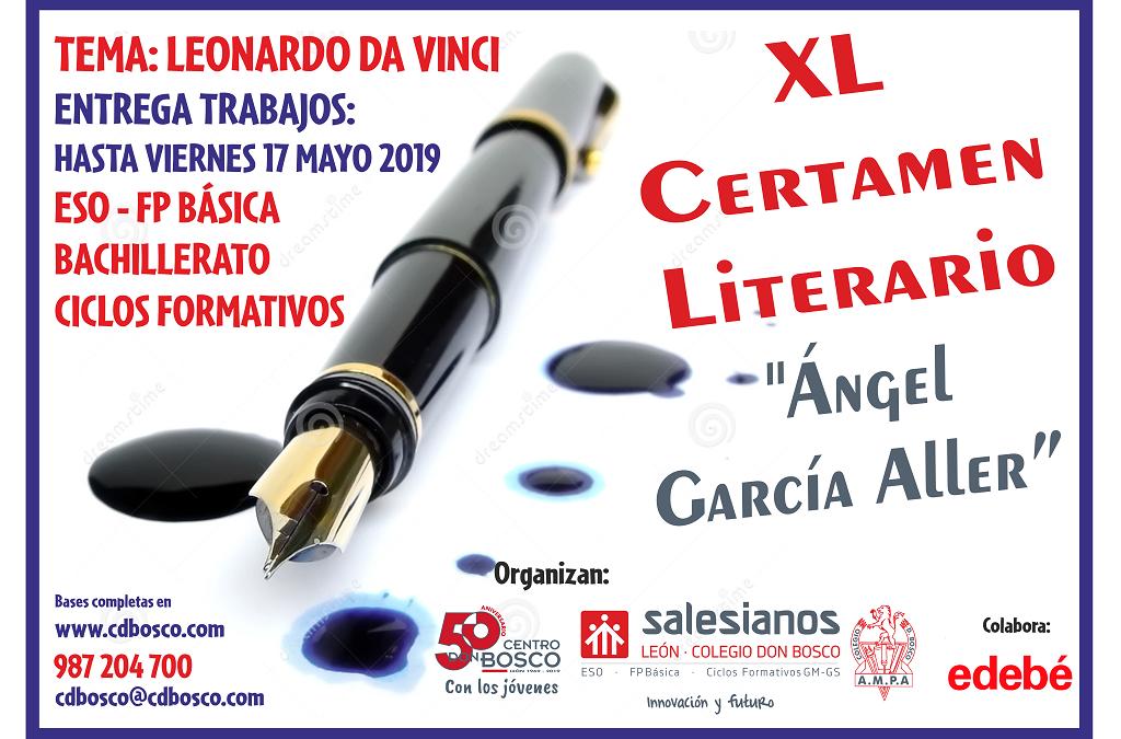XL Certamen Literario «Ángel García Aller»