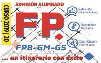 Del 19 Junio al 3 Julio: Solicitud de Plaza para FP